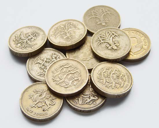 Pound sterlingPound sterling coins.