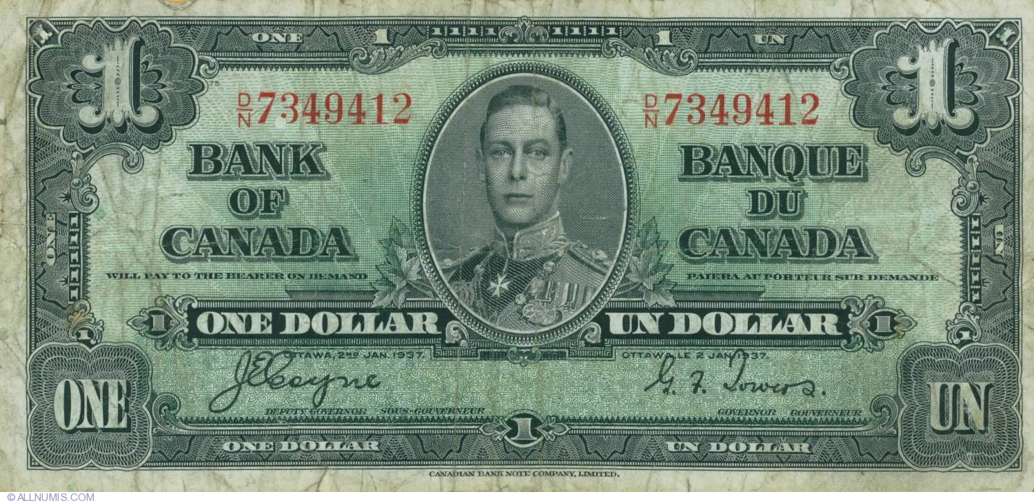 Canadian dollarCanadian Dollar 1937