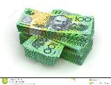 Australian dollarStack of Australian Dollar ( with clipping ...